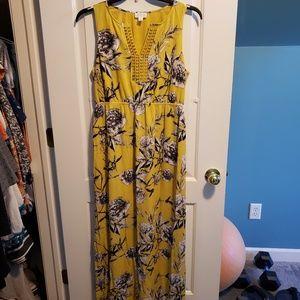 Market & Spruce Crochet Detail Maxi Dress